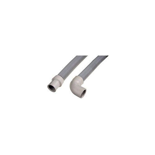 Hama 111052 Ablaufschlauch für Waschmaschine/Geschirrspüler 1,5m (Grau)