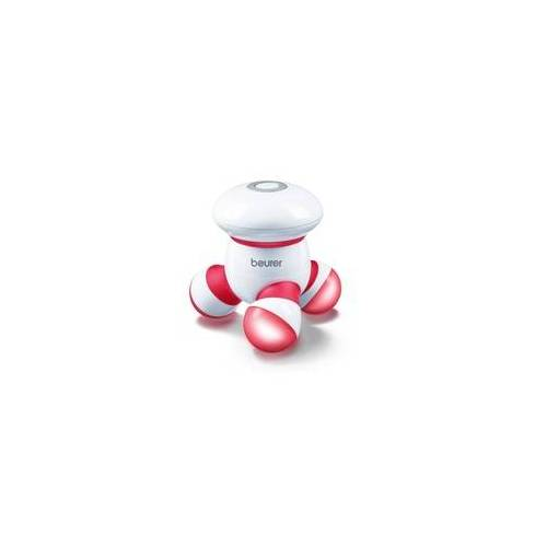 Beurer MG16 Mini-Massagegerät LED-Licht Massage-to-go Vibrationsmassage (Rot, Weiß)