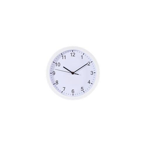 Hama 186341 Pure Wanduhr geräuscharmes Uhrwerk (Weiß)