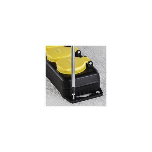 Hama Steckdosenleiste 6-fach mit Schalter spritzwassergeschützt IP44 2m (Schwarz)