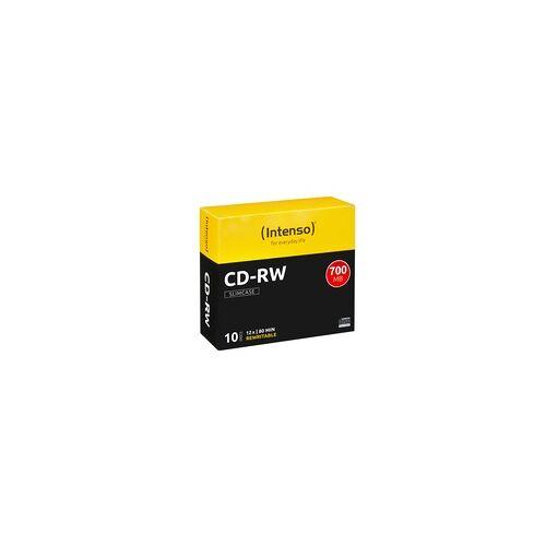 Intenso CD-RW 700MB CD-Rohlinge 10er-Pack Slimcase 80min wiederbeschreibbar 12x