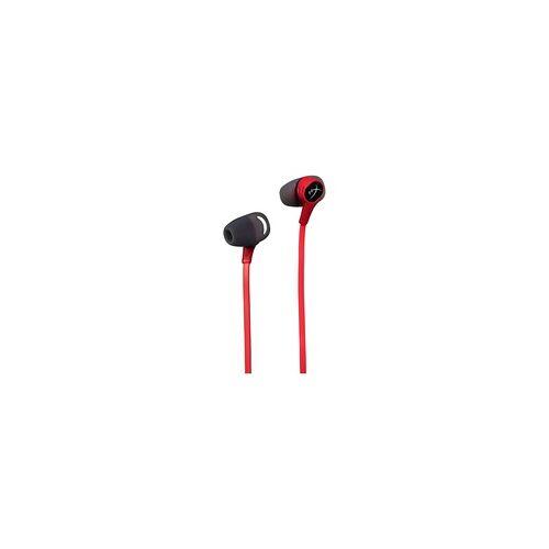 Kingston Cloud In-Ear Kopfhörer ideal für Nintendo Switch (Schwarz, Rot)