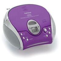 Lenco SCD-24 CD Payer FM Radio (Violett, Silber) (Versandkostenfrei)
