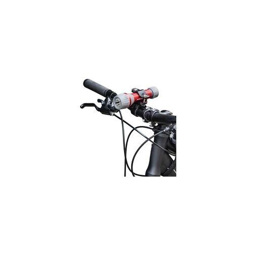 Hama 00136674 Universal-Taschenlampen-Halter für Fahrradlenker 360 drehbar (Schwarz)
