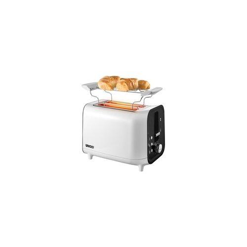 Unold 38410 Shine Toaster 700-800W 4 Funktionen Cool-Touch-Gehäuse (Weiß)