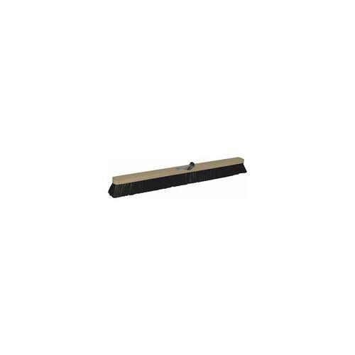 As-Brück Brück Besen Saalbesen, Rosshaar mit Metallstielhalterung, 80 cm