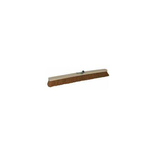 As-Brück Brück Besen Saalbesen, Kokos mit Metallstielhalterung, 80 cm