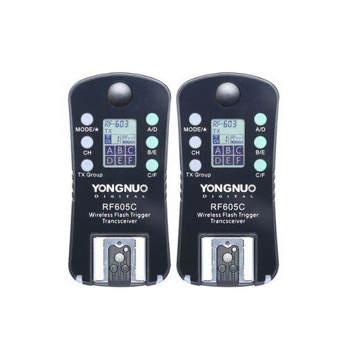 Yongnuo RF-605C wireless flashtrigger set Canon