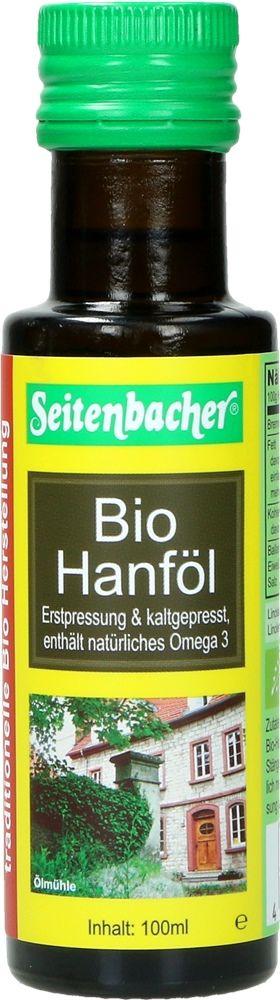 Bio Hanföl von Seitenbacher, 100 ml Flasche 4008391085015