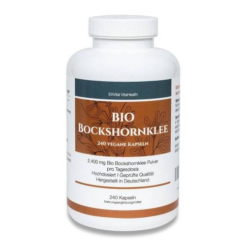 BIO Bockshornklee, 240 Kapseln, 2400 mg pro Tagesdosis 4260656130155