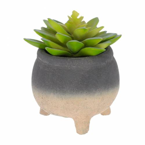 Kave Home - Sedum lucidum Kunstpflanze im beton topf