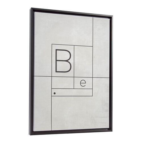 Kave Home - Myrthe Bild, weiß, 50 x 70 cm