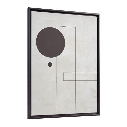 Kave Home - Myrthe Bild, grau, 50 x 70 cm