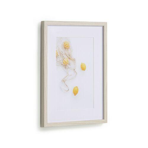 Kave Home - Leyla Bild von einer Tasche mit Zitronen 30 x 40 cm