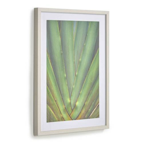 Kave Home - Lyn Bild grüne Aloe Vera 50 x 70 cm