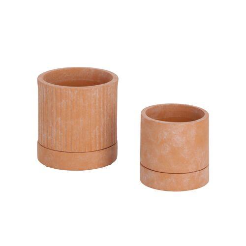 Kave Home - Janaina Set mit 2 Terrakotta-Töpfen Ø 18 cm und Ø 12 cm