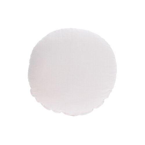 Kave Home - Tamane runder Kissenbezug 100% Leinen in weiß Ø 45 cm