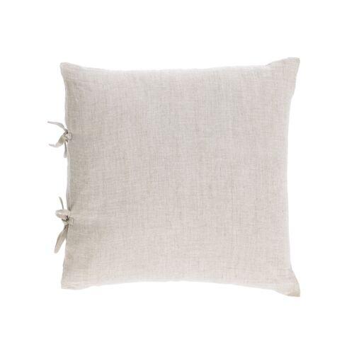 Kave Home - Tazu Kissenbezug 100% Leinen in beige 45 x 45 cm