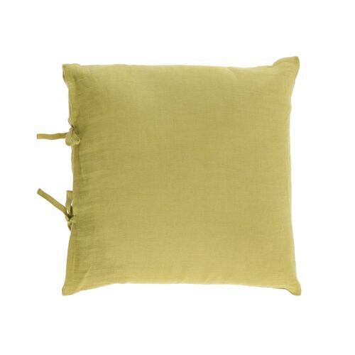 Kave Home - Tazu Kissenbezug 100% Leinen in grün 45 x 45 cm