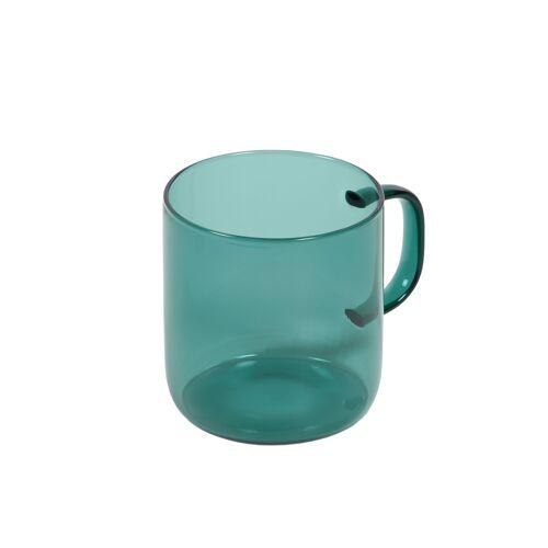 Kave Home - Morely türkisfarbener Glaskrug
