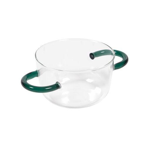 Kave Home - Dusnela transparente und türkise Glasschale