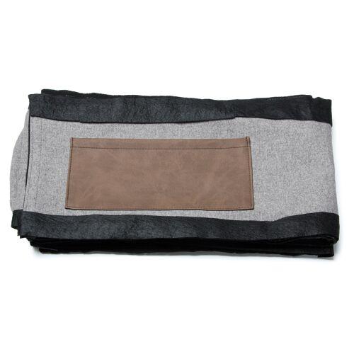 Kave Home - Dyla Bettbezug 150 x 190 cm, grau