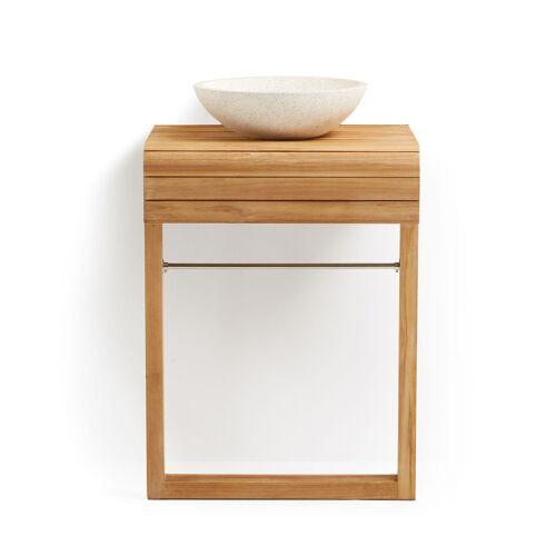 Kave Home - Kuveni Waschtisch und Handtuchhalter 60 x 80 cm