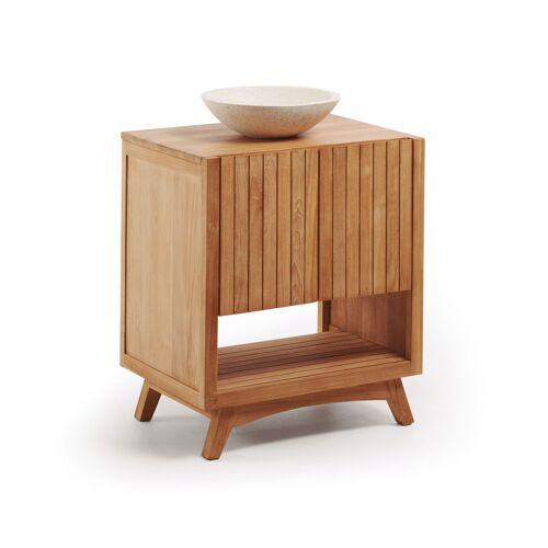 Kave Home - Kuveni rechteckiger Waschtisch Unterschrank mit Waschtischplatte 70 x 92 cm