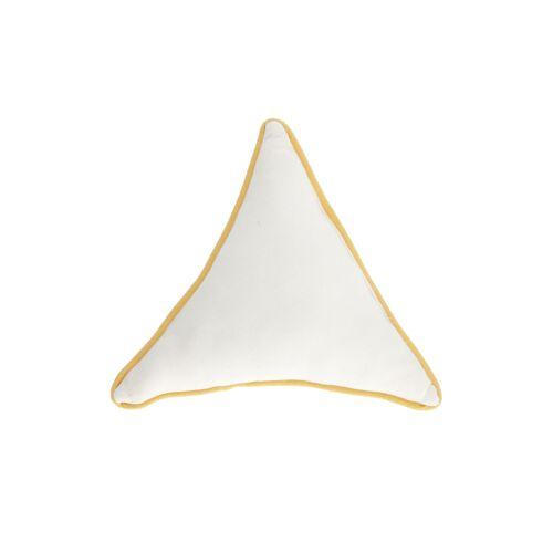 Kave Home - Fresia Kissen, weißes Dreieck