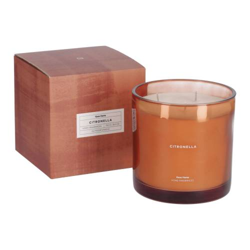 Kave Home - Citronella Duftkerze in Orange 750 g