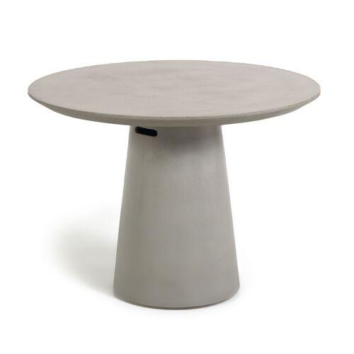 Kave Home - Itai Tisch Zement Ø 120 cm