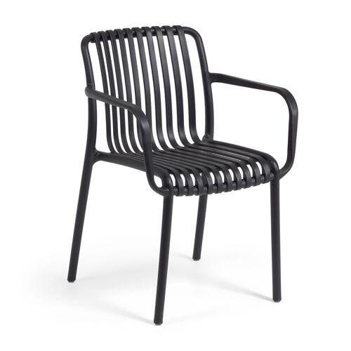 Kave Home - Isabellini Outdoor-Stuhl in schwarz