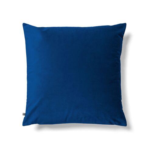 Kave Home - Lita Kissenbezug 45 x 45 cm, blauer Samt