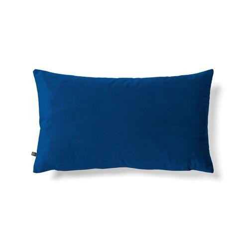 Kave Home - Lita Kissenbezug 30 x 50 cm, blauer Samt