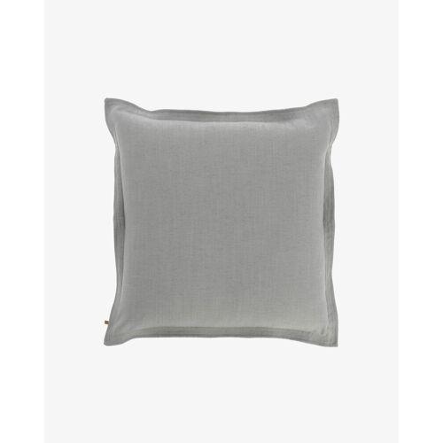 Kave Home - Maelina Kissenbezug 60 x 60 cm, grau
