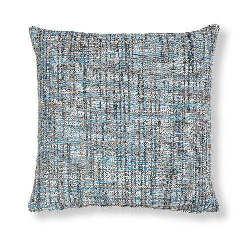 Kave Home - Boho Kissenbezug 45 x 45 cm, blau