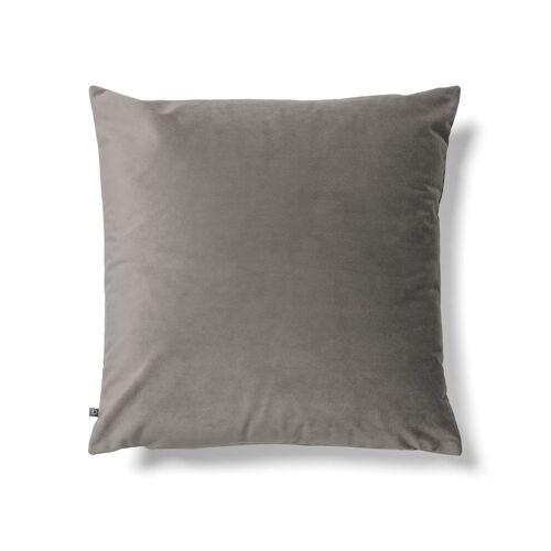 Kave Home - Lita Kissenbezug 45 x 45 cm, grauer Samt