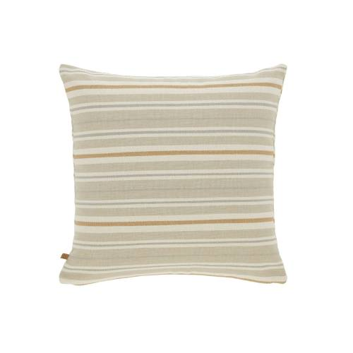 Kave Home - Sydelle braun gestreift Kissenbezug 45 x 45 cm