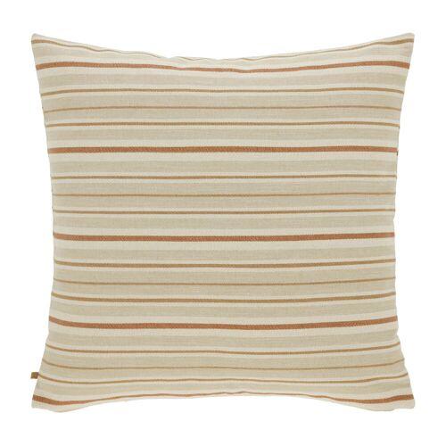 Kave Home - Sydelle beige gestreift Kissenbezug 60 x 60 cm