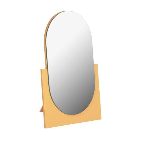 Kave Home - Mica mirror mustard mustard 17 x 25 cm