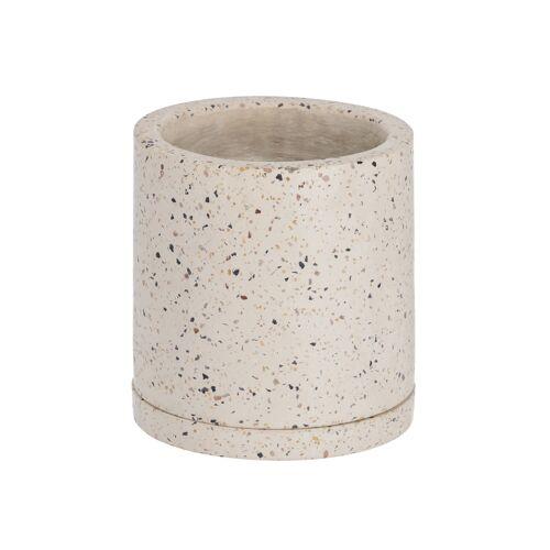 Kave Home - Lelis Topf mit weißem Terrazzo Teller Ø 26 cm
