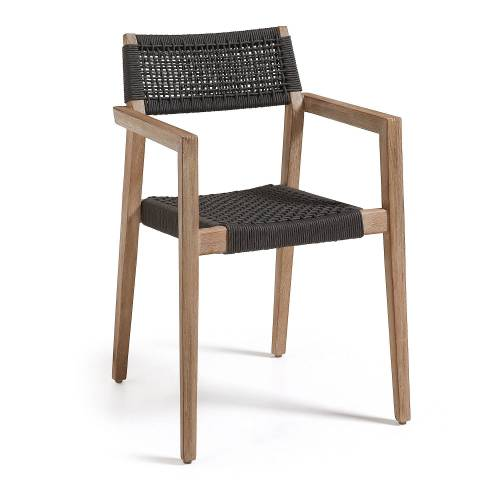 Kave Home - Vetter Sessel, schwarz