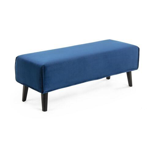 Kave Home - Dyla Samt Sitzbank Bezug, blau