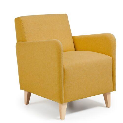 Kave Home - Arck Sessel senfgelb
