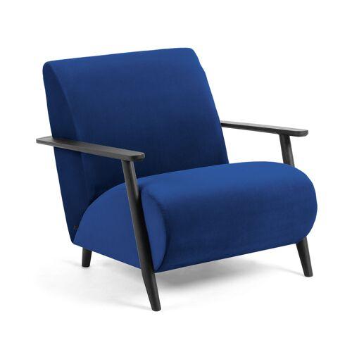 Kave Home - Blauer Meghan Samt Sessel