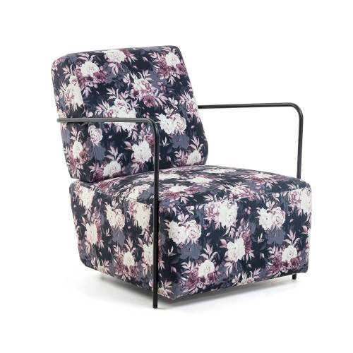 Kave Home - Gamer Sessel mit Blumenmuster