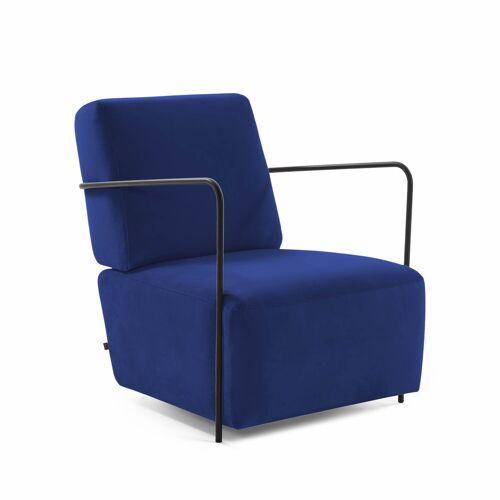 Kave Home - Blauer Gamer Samt Sessel