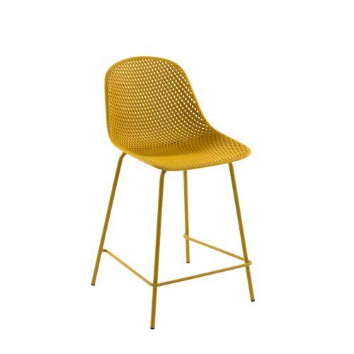 Kave Home - Quinby Barhocker gelb Höhe 65 cm