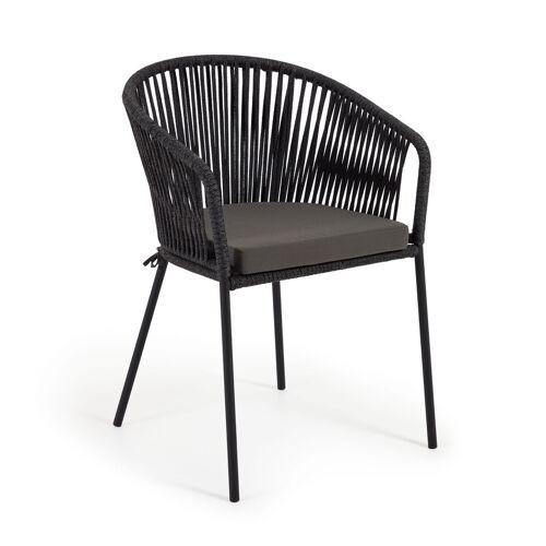 Kave Home - Yanet schwarzer Stuhl
