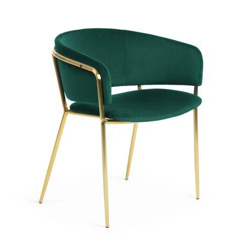 Kave Home - Runnie Sessel, grüner Samt